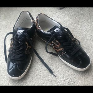 ASH Sneakers Sz 37 US 7 Black Leopard